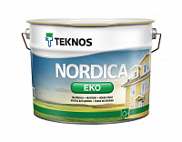 Краска фасадная водно-дисперсионная Teknos Nordica eko house paint base1 9л