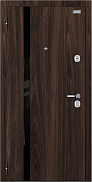 Входная дверь металлическая el Porta Optim Стрит Walnut/Cappuccino Veralinga