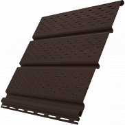 Софит виниловый Ю-пласт коричневый перфорированный